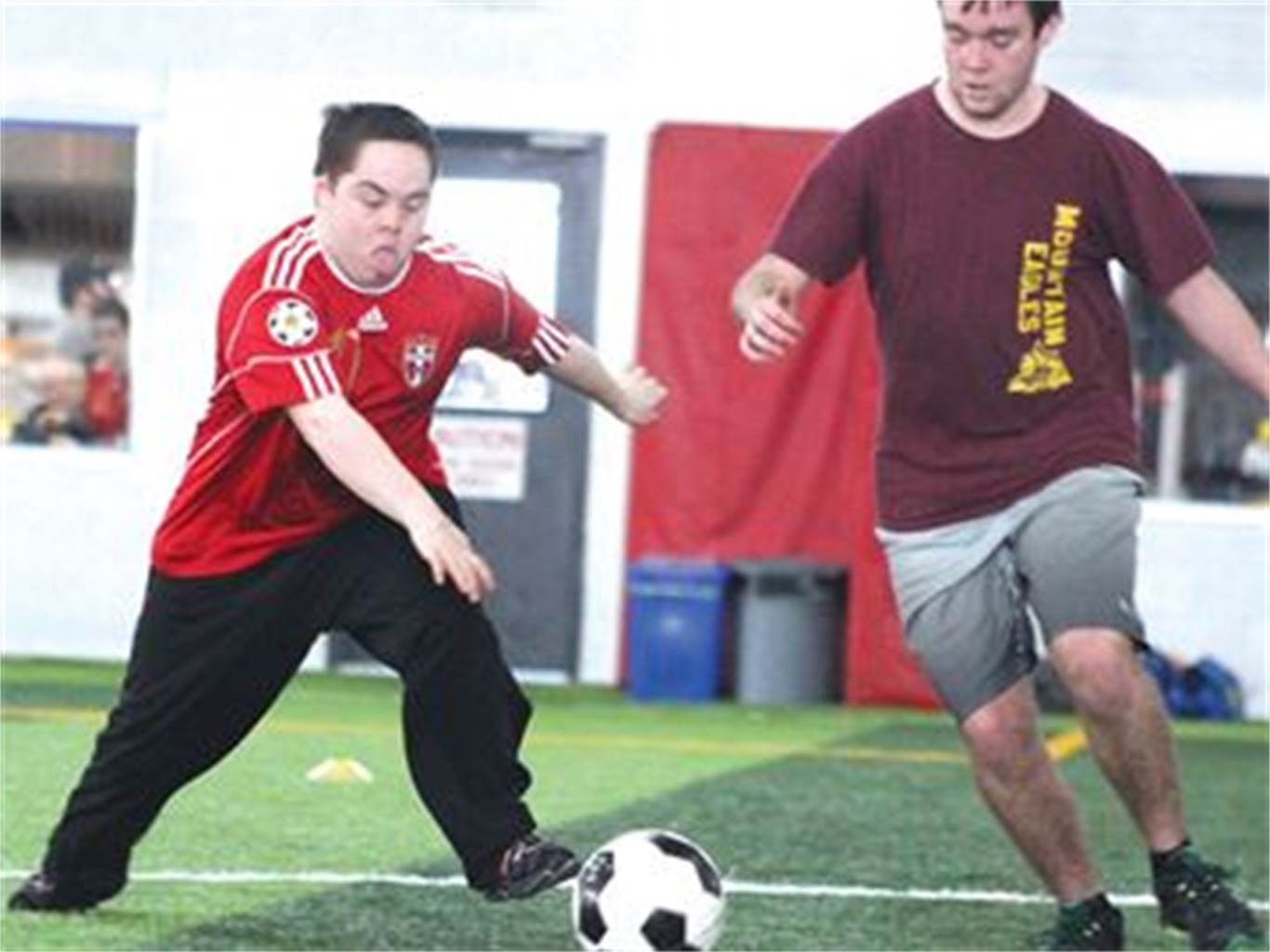 Soccer at the olympics gallery diagram writing sample and guide newman celebrates athletic spirit at ontario special olympics cardinal newmans nicholas girardi left dribbles the ball sciox Images