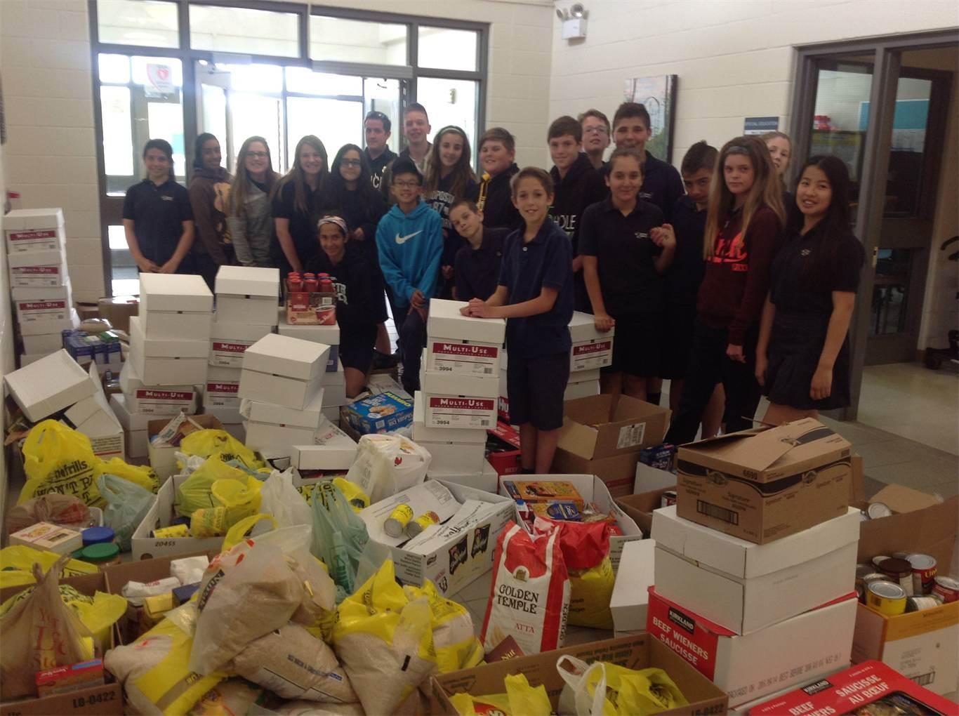 Hamilton Wentworth Catholic District Schoolboard: HWCDSB Schools Support Cram-a-cruiser Food Drive