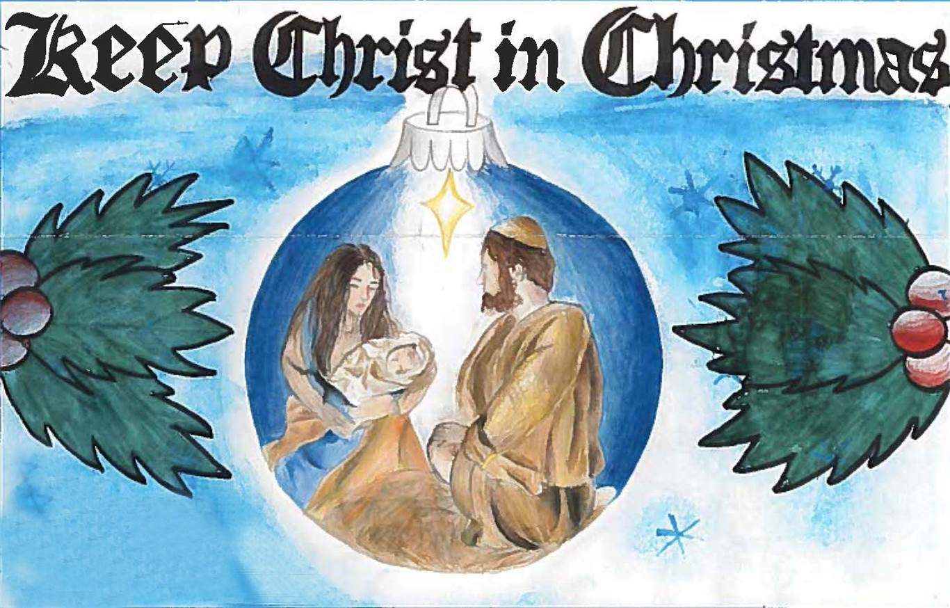 """Keep Christ in Christmas"""" poster contest"""