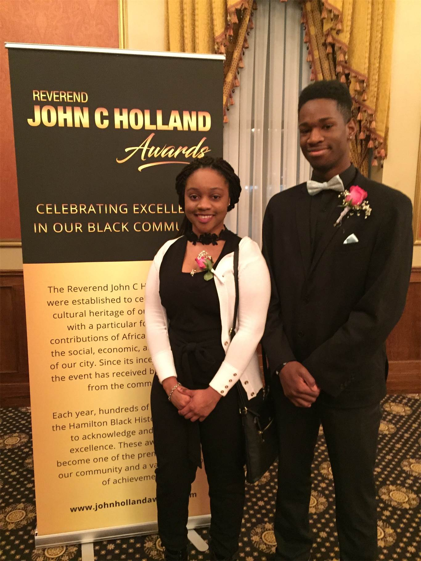 St. Thomas More CSS award finalists, Kudakwashe Chakanyuka and Jonathan Bowen.