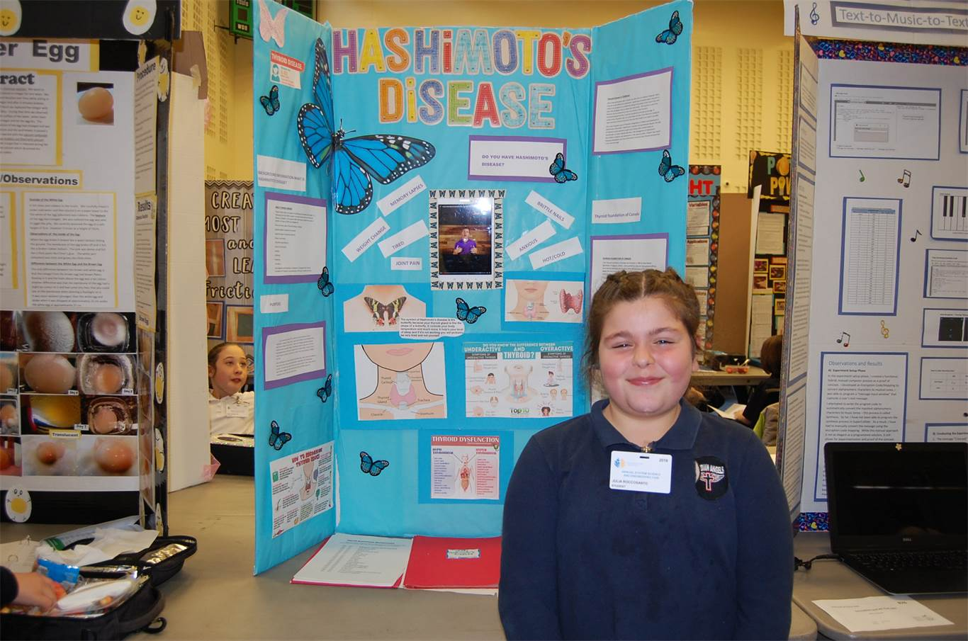 Julia Roccosanto, a Grade 5 student at Guardian Angels Catholic Elementary School, did her science project on