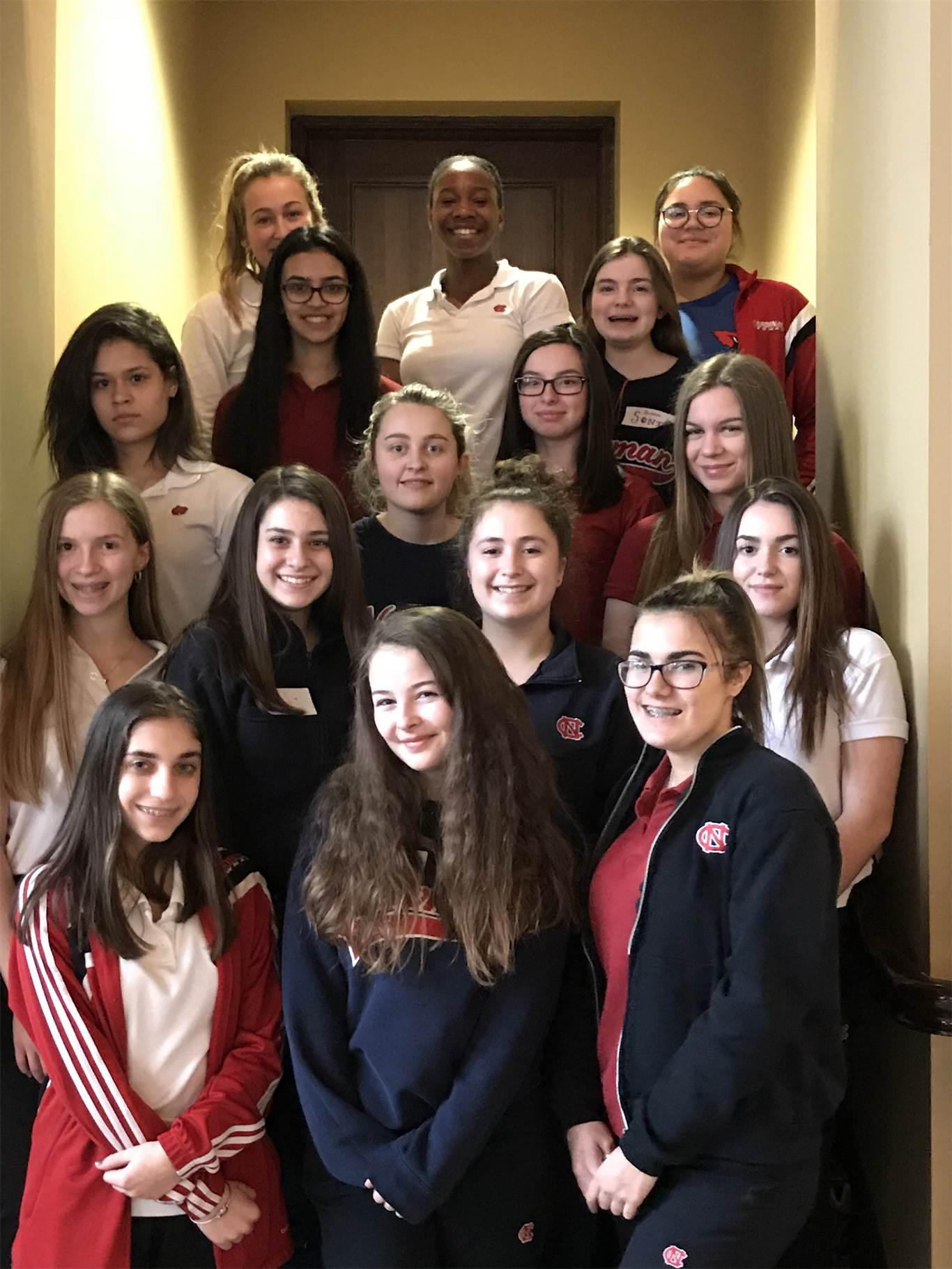 Students from Cardinal Newman at the YWCA's Totally Awesome Young Women Breakfast.