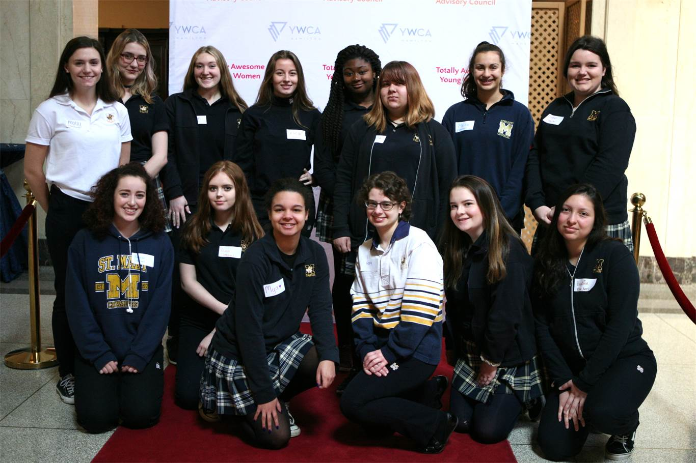 Students from St. Mary at the YWCA's Totally Awesome Young Women Breakfast. Photo by Nancy Castura.