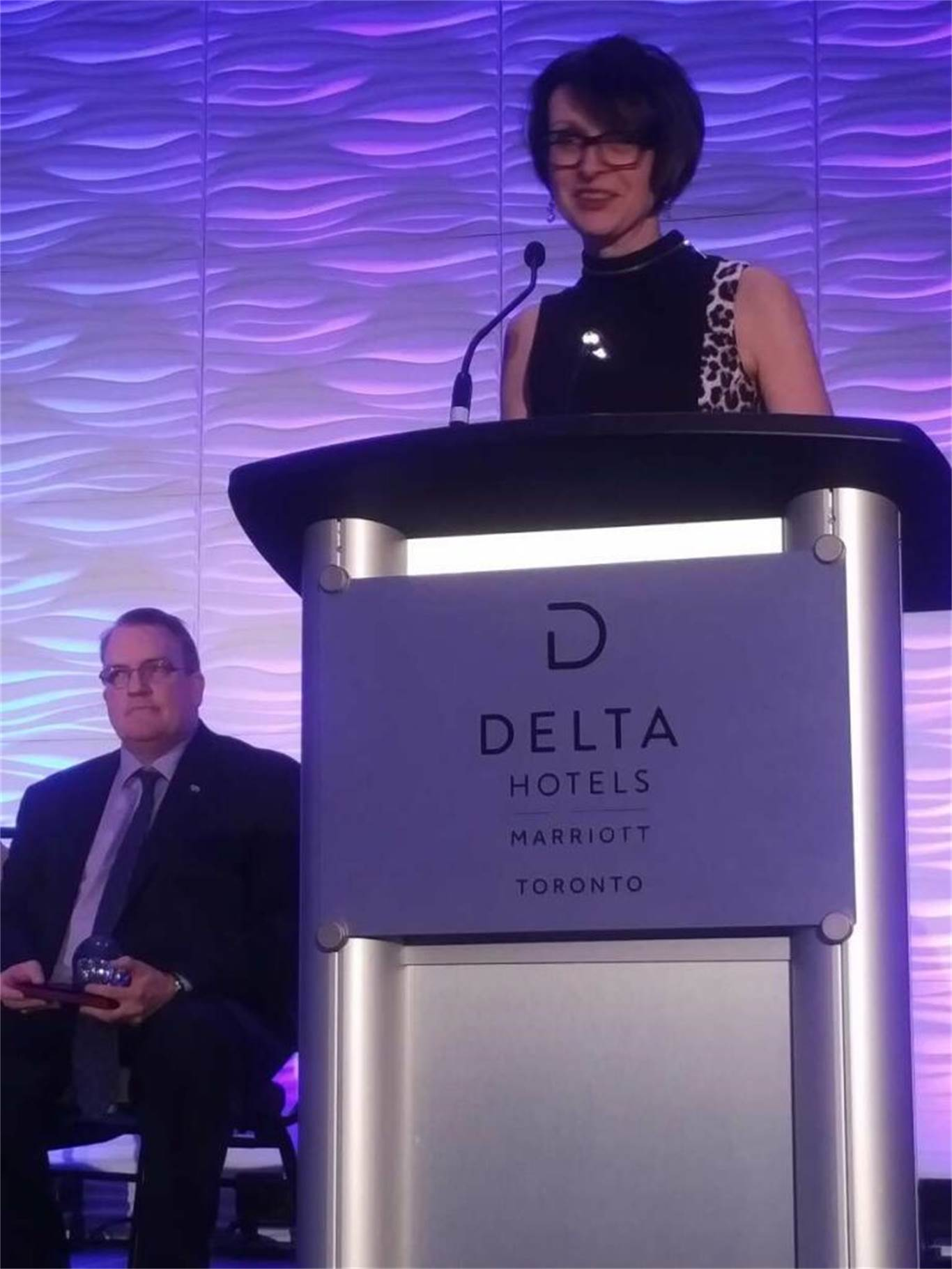 Marisa DiCenso was presented with a Distinguished Service Award by the Catholic Principals' Council of Ontario at a Gala Dinner & Awards Ceremony in Toronto on April 20.