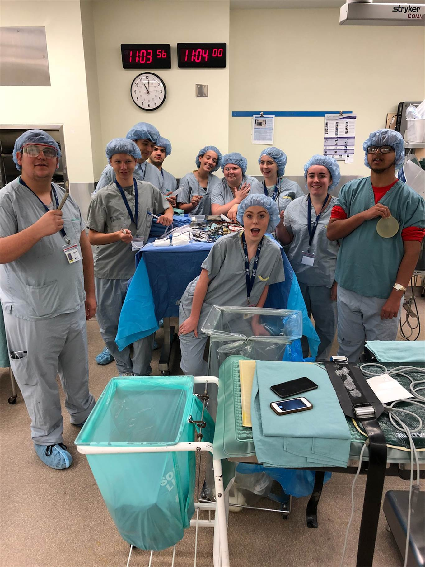 Students in the Summer Pathseekers' Program tour the O.R. at Hamilton General Hospital as one of many experiential learning activities to explore different job opportunities at Hamilton Health Sciences.