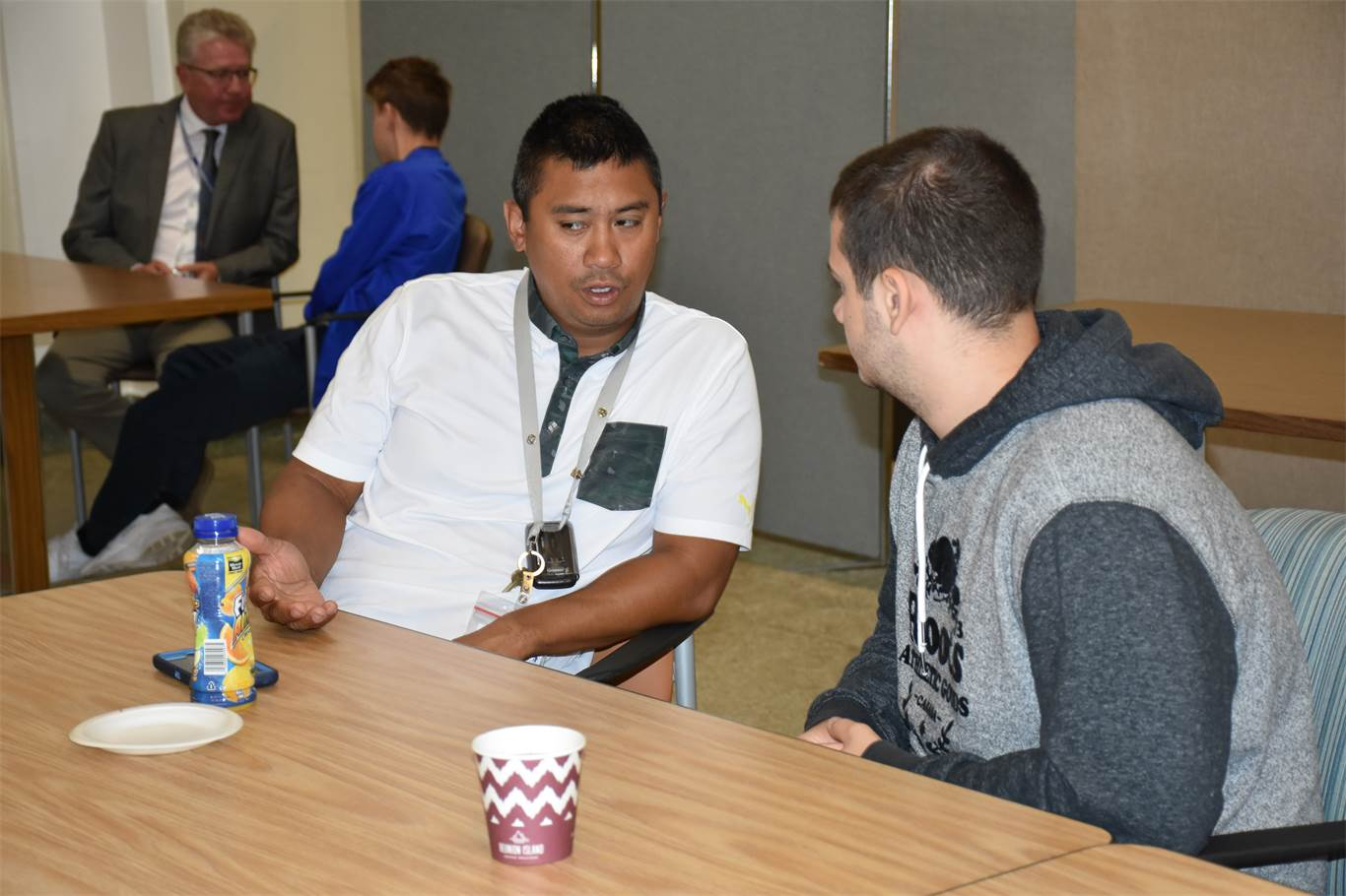 Students meet with mentors twice a week to learn about jobs and pathways.