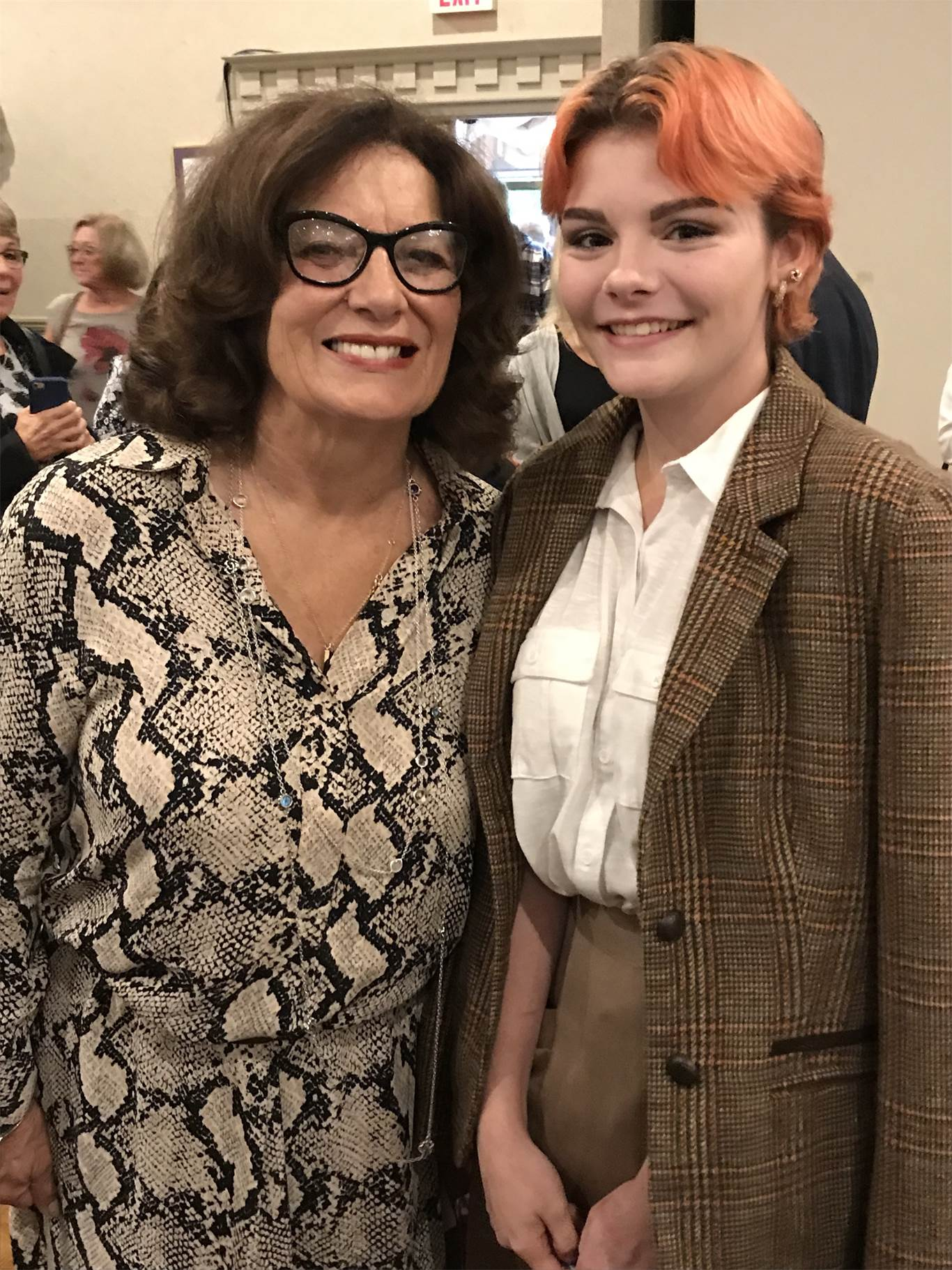 Ceirrah with keynote speaker Margaret Trudeau. Trudeau shared her personal challenges with mental health and gave advice for maintaining positive mental health, which included: healthy eating, proper sleep and daily exercise. Photo courtesy of Emidio Piccioni.