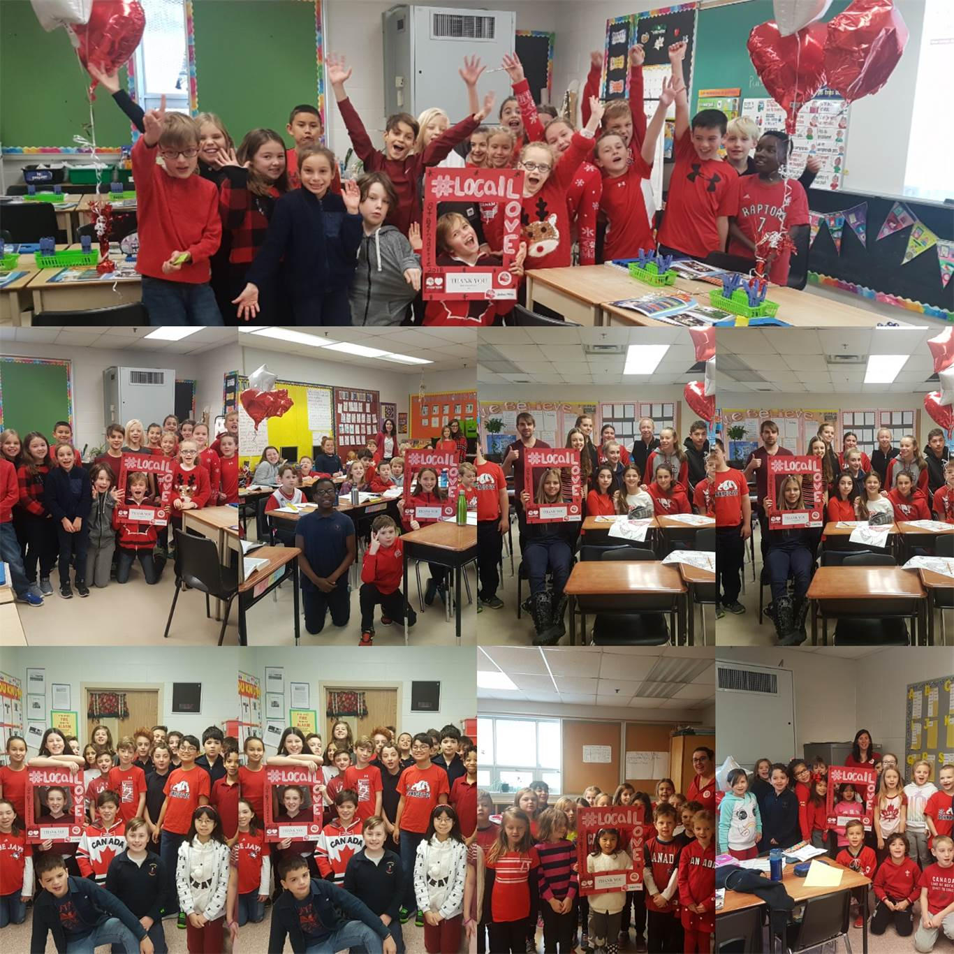 Staff at St. Bernadette won the Director's Pizza Party awarded to the school with the most creative United Way campaign. St. Bernadette flaunted its red and white spirit with a #locallove photo hashtag campaign, dress down days and daily United Way impact announcements.