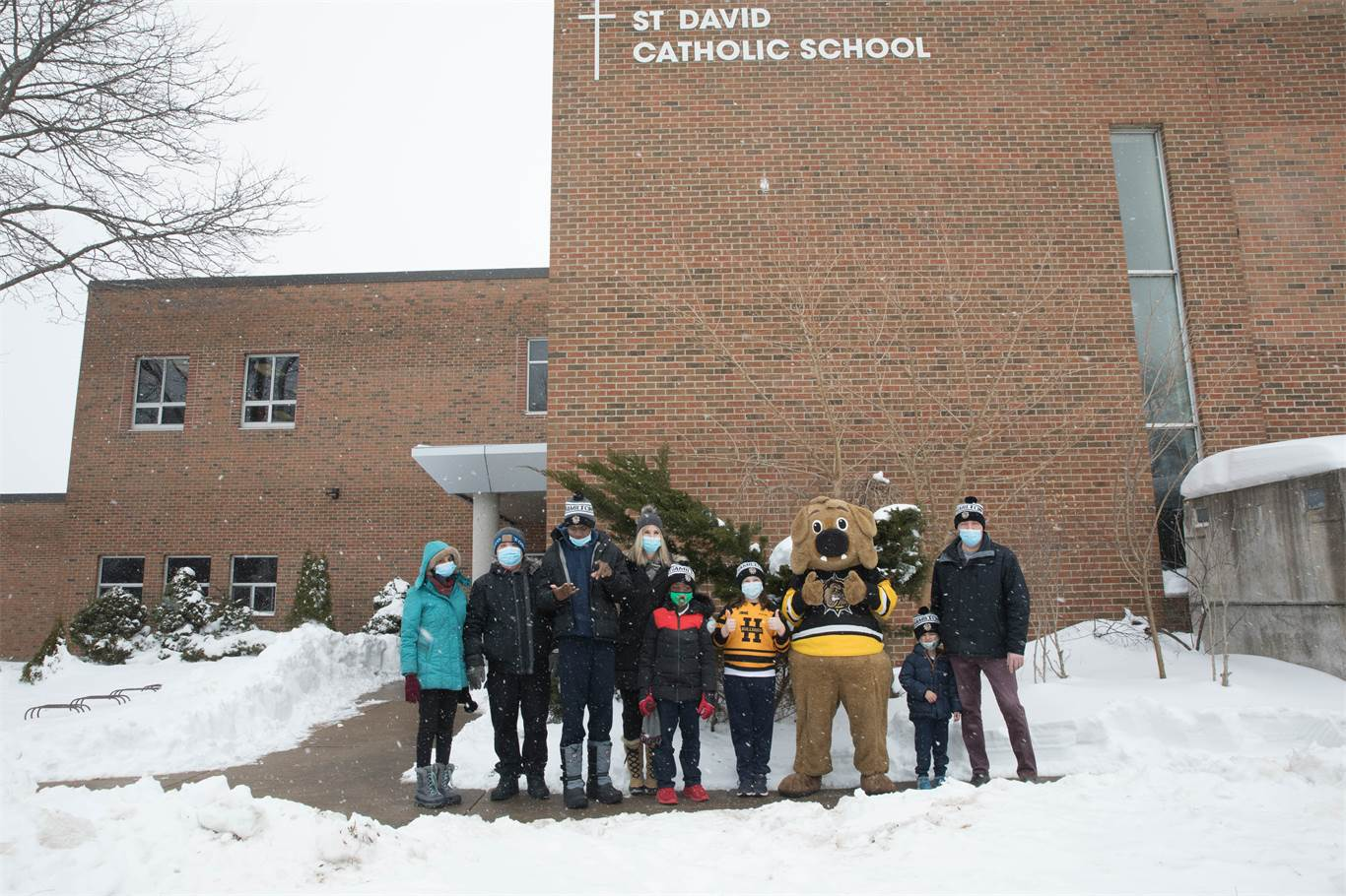 Bulldogs Foundation brings warmth to HWCDSB students