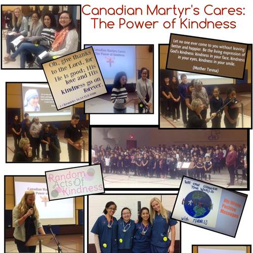 Ten weeks of kindness inspires culture of kindness at Canadian Martyrs School