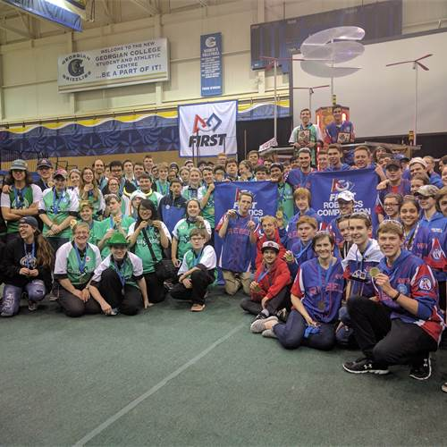 BR Celt-X Team 5406 captured a blue banner at this weekend's Georgian College FRC District Competition in Barrie.