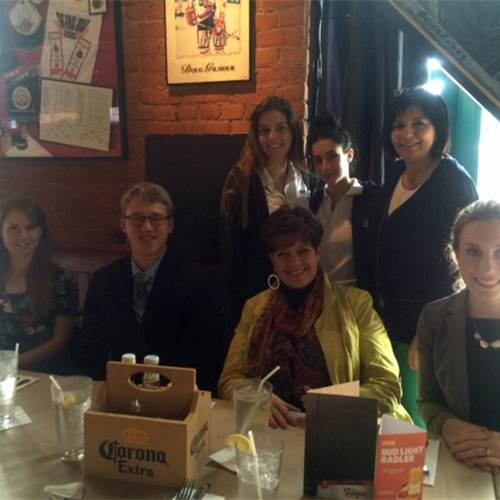 Cathedral students treated to lunch by Justice Milanetti