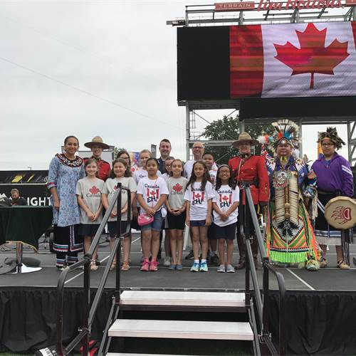 The Queen's Baton Relay touches down in Hamilton