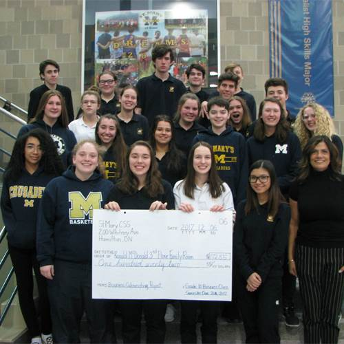 Students raise money for family room at McMaster hospital