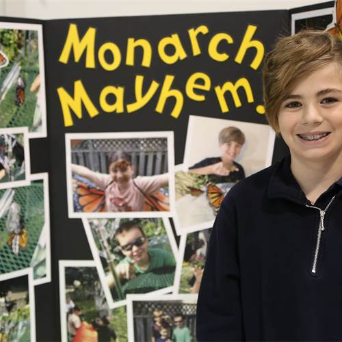Nicholas from St. Marguerite d'Youville shares his summer project of raising and releasing monarch butterflies.
