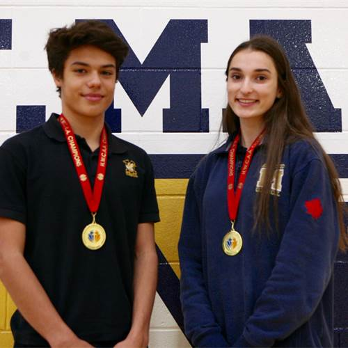 Co-Athletes of the Month - November 2019 - Sage Sulentic and Isabella Bauman