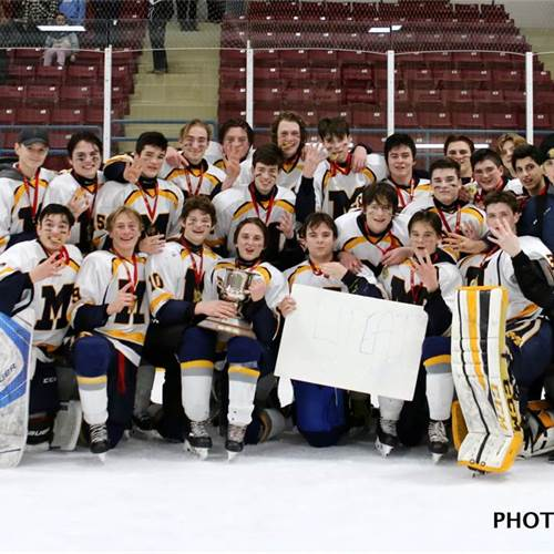 HWCDSB Co-Athletes of the Month - March - Boys Hockey Team - Four time City Champions and 2020 GHAC Champions