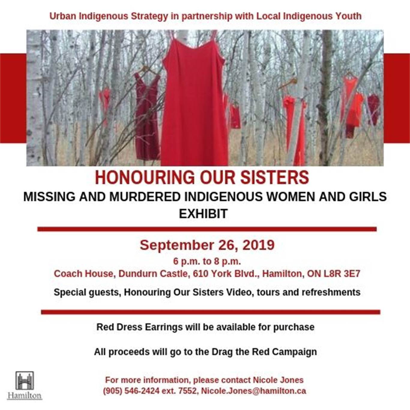 Honouring Our Sisters - Missing and Murdered Indigenous Women and Girls Exhibit