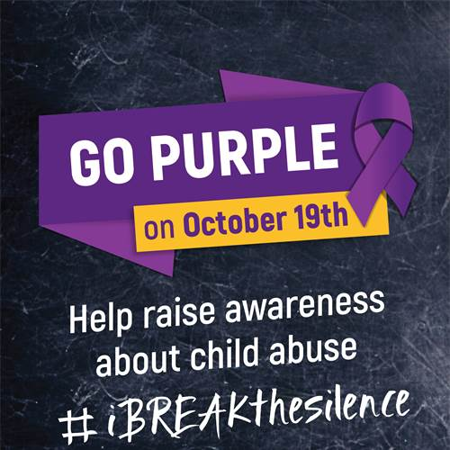 "Schools ""go purple"" to break the silence around child abuse"