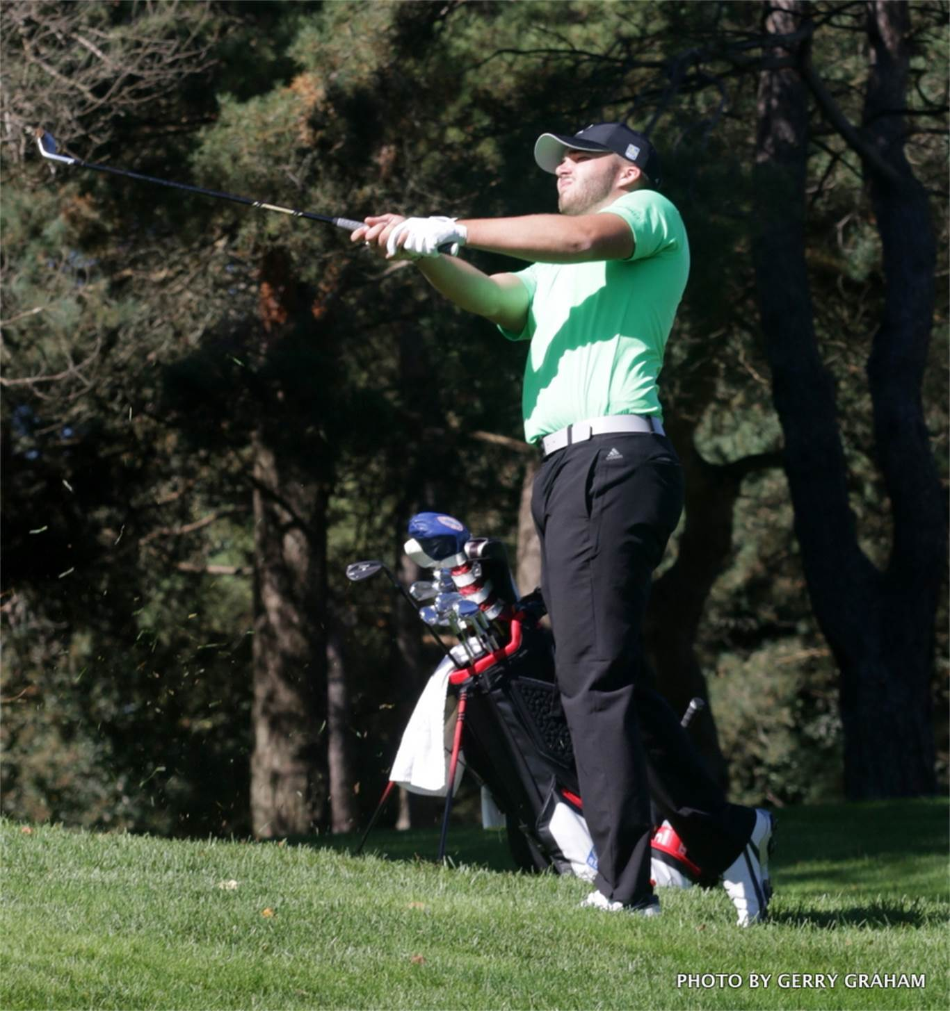 Bishop Ryan student Johnny Travale, shown here at GHAC,  finishes 4th in OFSAA golf. Photo by Gerry Graham.